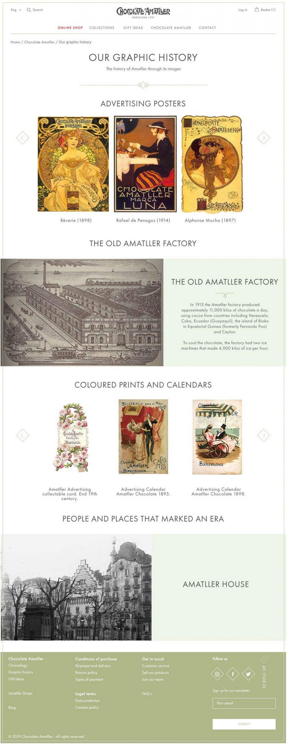 Chocolate Amatller website