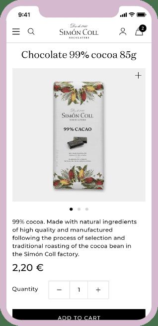 Simon Coll e-commerce mobile