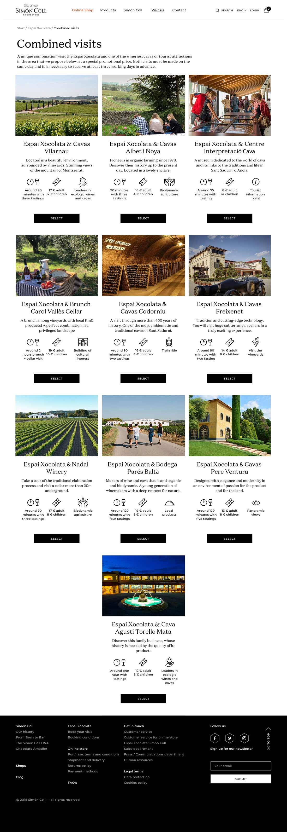 Simon Coll website bookings